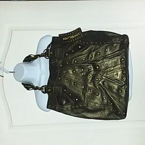 Betsy Johnson geniune leather handbag